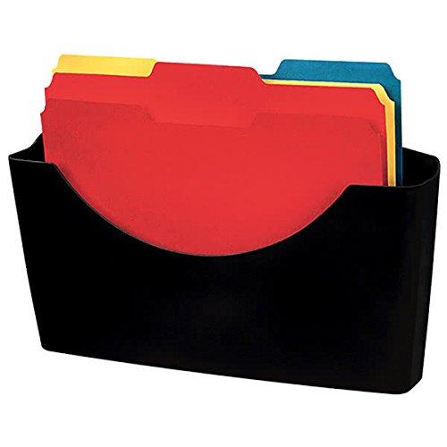 Partition Additions Dark Graphite Plastic Letter Sized File Pocket - 7 3/4