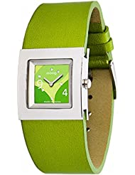 Moog Paris Harmony Womens Watch with Green Dial, Green Genuine Leather Strap & Swarovski Elements - M41353-005