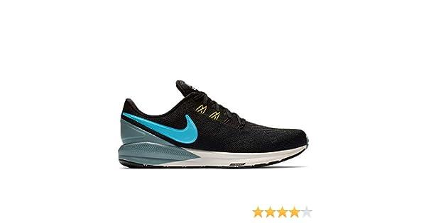 e08b206d7b0ff Nike Men's Air Zoom Structure 22 Running Shoe AA1636-005 Black/Blue  Fury/Aviator Grey