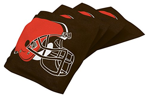 Wild Sports NFL Cleveland Browns Brown Authentic Cornhole Bean Bag Set (4 Pack) ()