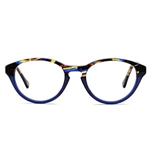 OCCI CHIARI Rectangle Stylish Eyewear Frame Non-prescription Eyeglasses With Clear Lenses Gifts for Women (Blue, 49)