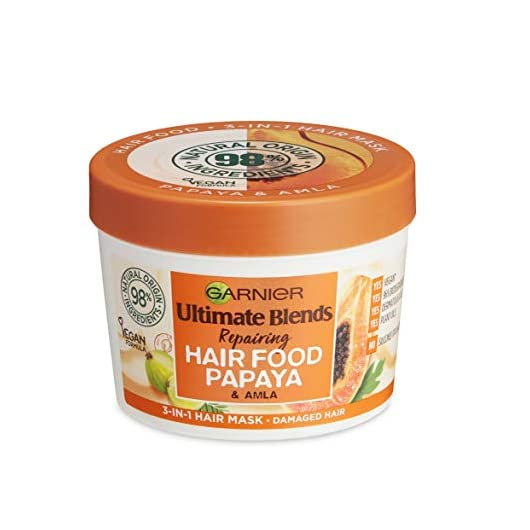 Garnier Ultimate Blends Hair Food Papaya 3-in-1, Repairing Hair Mask, Conditioning Treatment, Leave-in Conditioner for…