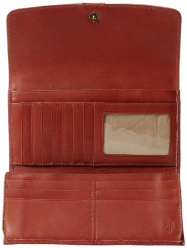 Frye Campus Large Wallet - Cartera para mujer Rojo ocre