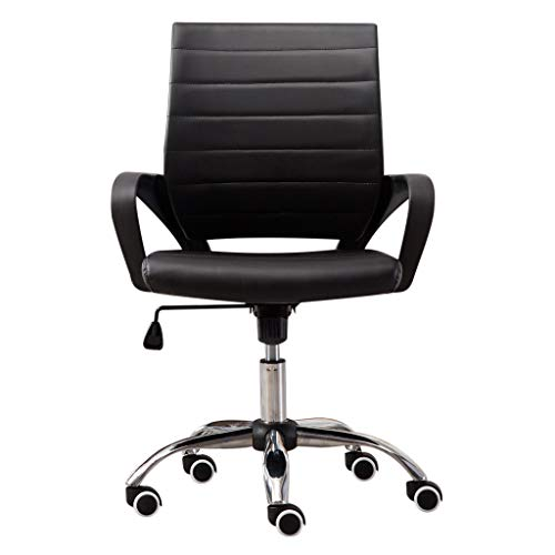 Pollyhb Fashion Adjustable Office Chair, Lift High-Back Casual Swivel Chair Computer Network Chair (D)