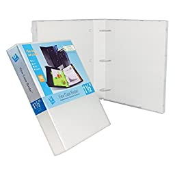 3 Ring Case Binder - 1.5 Inches - 3 Pack (Clear)