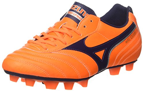Men's Multicolor Footbal Peacoat Orangeclownfish Shoes Morelia Silver Mizuno Club Md wpanRngq