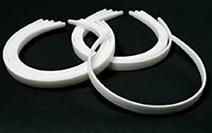 """1/2"""" White Plastic Headbands - (3 Packages of 12) - 36 Total Headbands to Create Individualized and Personalized Hair Accessories"""