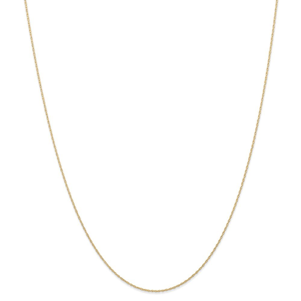 14k Yellow Gold 0.6mm Cable Chain Necklace 0.65g