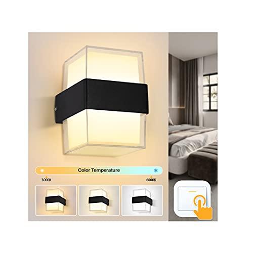 Imoli Wandlampe 12W mit 3 Farbtemperaturen Warmweiß/Neutralweiß/Kaltweiß Moderne Acryl LED Wandleuchte Innen mit Memory-Funktion Für Flur Schlafzimmer Eingang Wohnzimmer