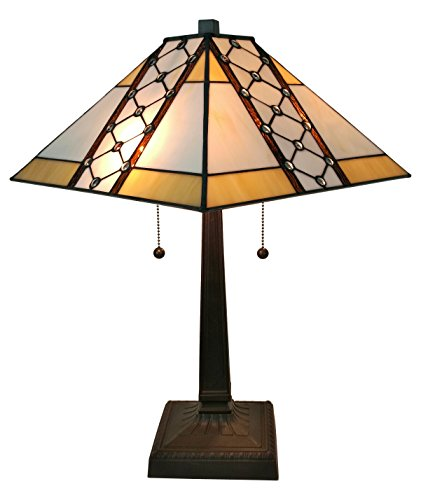 Amora Lighting AM237TL14 Tiffany Style Mission