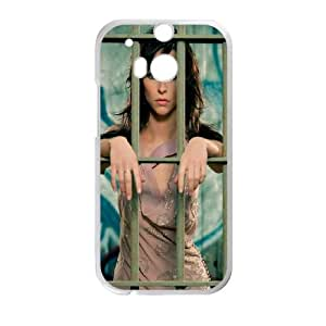 Jennifer Love Hewitt Brunette Fence Cage Dress funda HTC One M8 caja funda del teléfono celular del teléfono celular blanco cubierta de la caja funda EVAXLKNBC23808