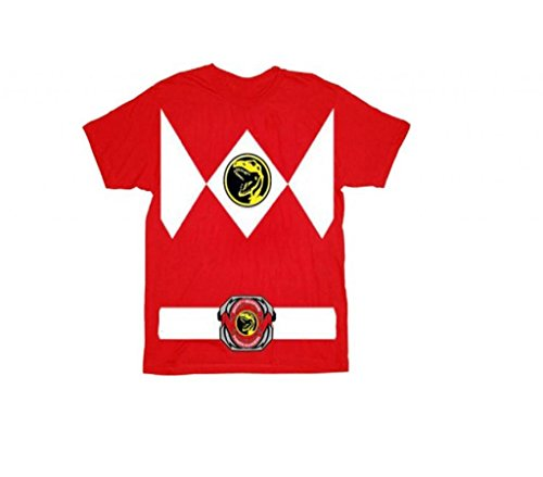 Power Rangers Toddler Costumes (Power Rangers Red Ranger Costume Red T-Shirt Tee (Toddler Large, 7T))