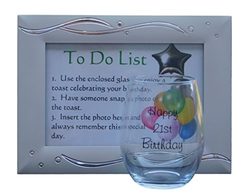 21st Birthday Gifts For Her Unique Gift Idea Capture A Toast With This Beautiful Wine Glass And Keep The Memory Forever In Stunning Picture Frame