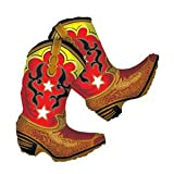 "Dancing Cowboy Boots Balloon- 36"""