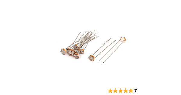 10Pcs innocuous photoresistor 5mm 5800B LDR resistor light dependent  RCUSHA*S