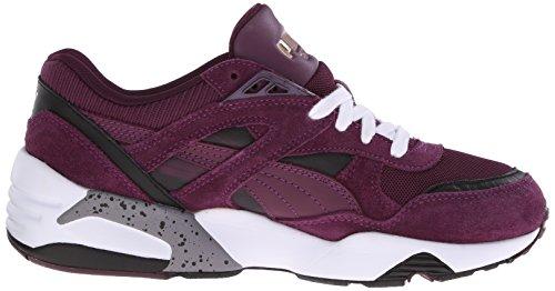 Zapato Trinomic de Puma R698fastgraphicwn Italian Plum/White/Coral Cloud Pink
