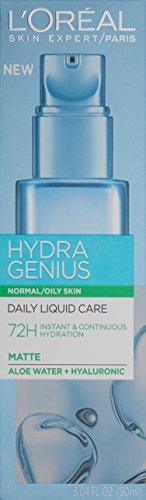 L'Oreal Paris Hydra Genius Face Moisturizer Aloe Vera & Hyaluronic Acid, Oily Skin, 3.04 fl. oz.