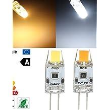 Ai&M 1 stuks HUIBONA G4 1.5 W 1 COB 150 LM Warm wit / Koel wit T Dimbaar 2-pins lampen DC 12 V , wit-dc12v