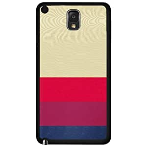 Pink and Blue Stripes on Light Wood Background Hard Snap on Phone Case (Note 3 III)