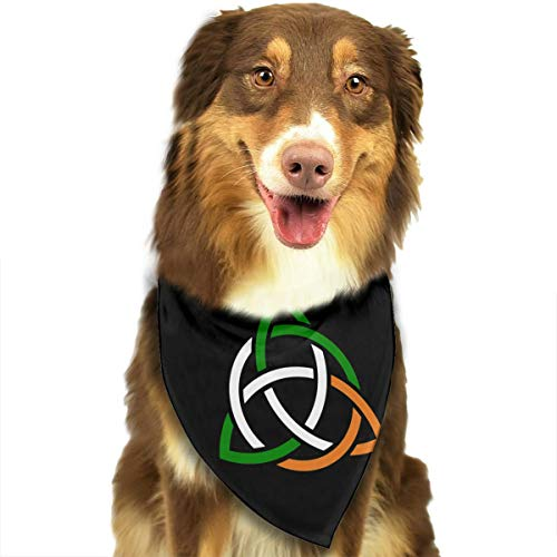 YFFSB Celtic Trinity Knot Clipart Irish Knot Flag Dog Bandana Plaid Bibs Triangle Neckerchief for Dog Cat Puppy Pet Animal