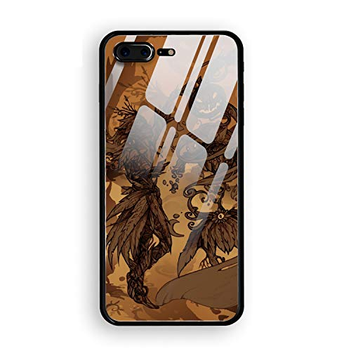 Halloween Drawing Contest Custom iPhone 7/8 Plus Cover Slim Fit Hard Tempered Glass Compatible for iPhone 7/8 Plus Case 5.5