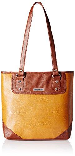Fantosy Women's Handbag (Tan and Brown) (FNB-453)
