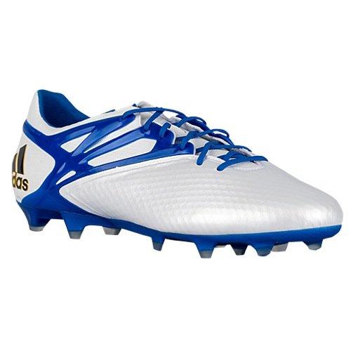 af298ec74 adidas Mens Messi 15.1 FG/AG Firm Ground/Artificial Grass Soccer Cleats 11  1/2 US, White/Prime Blue/Black
