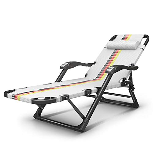 - SACKDERTY Folding Reclining Chair Sun Lounger with Removable Headrest and Massage Armrest Zero Gravity Chairs Textilene Sunbed