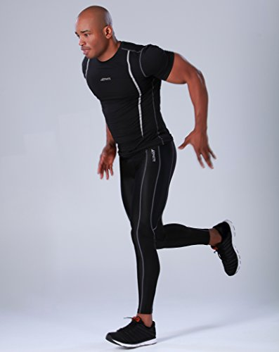 COOVY ATHLETE Sports Lightweight- & Mid-weight Compression Base Layer Leggings / Tights (For warm weather)