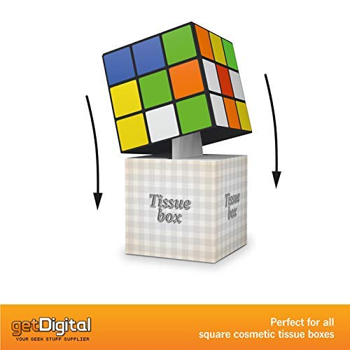 getDigital Magic Cube Tissue Box Cover 5.5 x 5.5 x 5.5 inch Decorative Holder for Square Tissue Boxes with a Secure Magnetic Lock