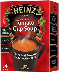 - Heinz Cream Of Tomato Cup Soup 4x 22g(88g)