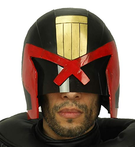 Judge Dredd Helmet Deluxe Resin Full Head Halloween