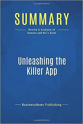 Amazon com: Summary: Unleashing the Killer App: Review and