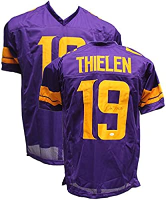 save off b66ef 4a3c2 Authentic Adam Thielen Autographed Signed Custom Football ...