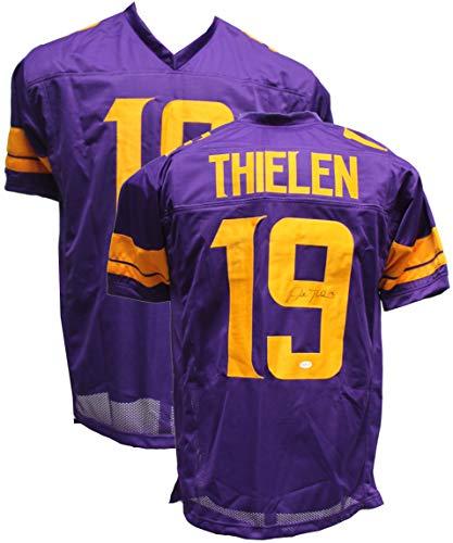 Authentic Adam Thielen Autographed Signed Custom Football Jersey TSE COA Minnesota Vikings WR