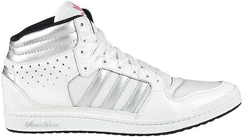 adidas ADIDAS DECADE HI SLEEK W - Zapatillas de caña alta de cuero mujer, color blanco, talla 37 1/3: Amazon.es: Zapatos y complementos