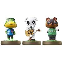 Kapp'n - K.K. - Tom Nook Amiibo (Animal Crossing Series) for Nintendo Switch - WiiU, 3DS 3Pack (Bulk Packaging)
