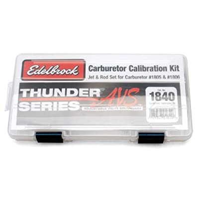 Edelbrock 1840 Thunder Series AVS Carburetor Calibration Kit: Automotive