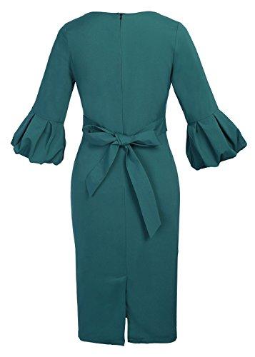 Ruiyige - Vestido - para mujer Verde