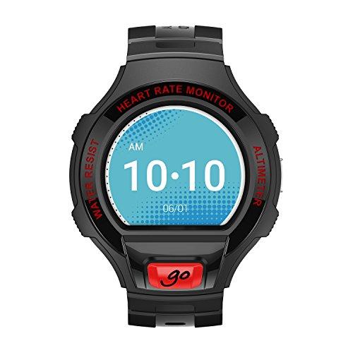 Alcatel SM03-2BALWE7 Smart Uhr schwarz/dunkel rot