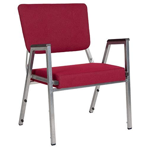 Flash Furniture XU-DG-60443-670-2-BY-GG Bariatric Chairs, 1 Pack, Burgundy Fabric