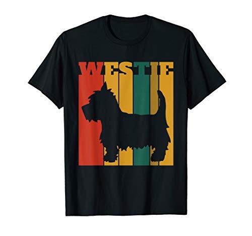 (West Highland Terrier Westie T-Shirt Retro Vintage )