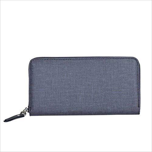 Briefcase Zipper Shoulder Men's Business Handbag Casual Double Blue Leather Bag For 2 Fashion color In 1 Wear Diagonal Blue Suitable Set 0r0wOPqB