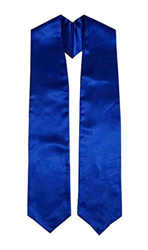 Unisex Adult Plain Graduation Stole 60'' Long Grad Days Royal Blue ()