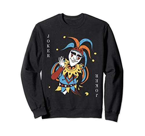Joker Playing Card Halloween Costume Sweatshirt Wild Card