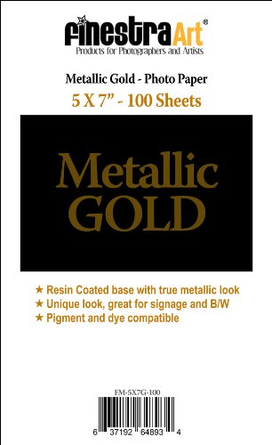5'' X 7'' 100 Sheets Metallic Gold Inkjet Photo Paper [Office Product]