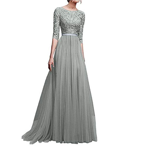 Plus Size Ho Costumes (iLUGU Women Formal Wedding Bridesmaid Dress Long Maxi Dress Evening Party Prom Ball Gown Cocktail)