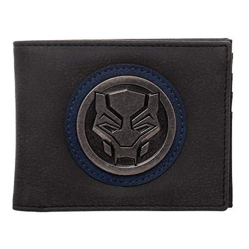 Panther Face (Black Panther Face Distressed PU Bifold Wallet)