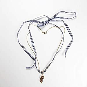 Multi Pendant, Necktie and Necklace Quill Shape