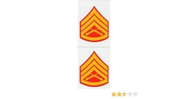 2 pieces Marine Corps E-9 Master Gunnery Sergeant Mini Decals